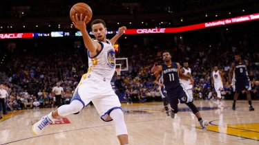 Ball on a string: Steph Curry has been on fire for the Golden State Warriors.