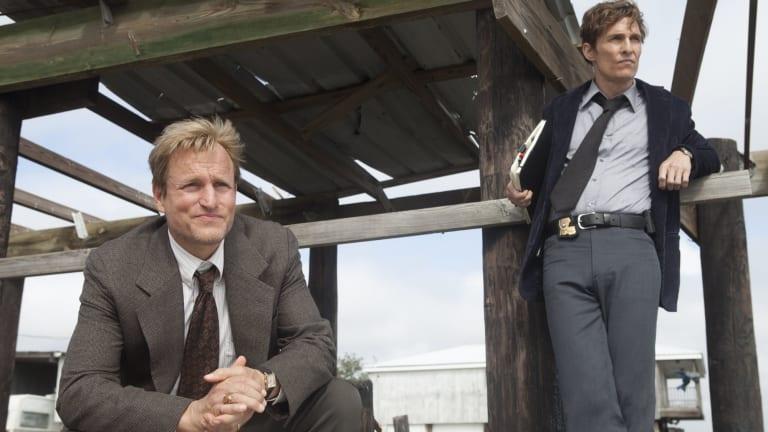 Matthew McConaughey and Woody Harrelson True Detective.