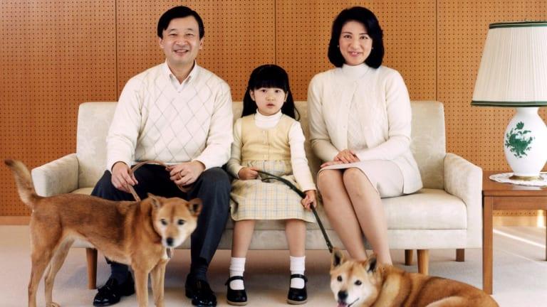 Crown Prince Naruhito and Crown Princess Masako with their daughter Princess Aiko in 2007.