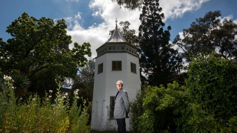 Trevor Pitkin outside the system garden's conservatory tower which dates back to 1856 - three years after the university was established.