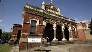 The old Moonee Ponds courthouse is now home to the Essendon Historical Society.