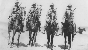 Light Horsemen during World War i.