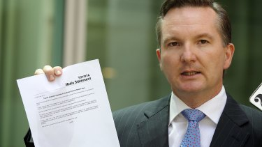 Shadow treasurer Chris Bowen.
