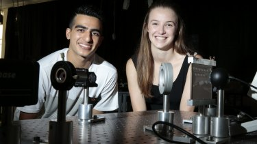 Canberra Grammar School year 12 student Sahil Chopra and St Clare's College year 12 student Anastasia Gilchrist will attend the National Youth Science Forum.