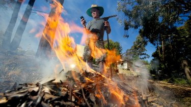 Ray Shepherd of Blackwood gets his place ready ahead of the upcoming fire season.