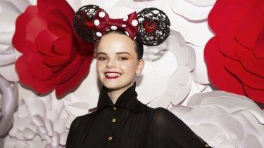 Modern mouse: milliner Richard Nylon used new technology to design his Minnie hat.