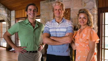 Cast members Ryan Corr (John Cornell), Josh Lawson (Paul Hogan) and Justine Clarke (Noelene Hogan). Seven hopes to capitalise on an apparent appetite for Aussie biopics on the small screen.
