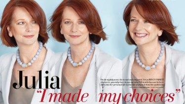 Former prime minister Julia Gillard posed for <em>The Australian Women's Weekly</em> in 2010.