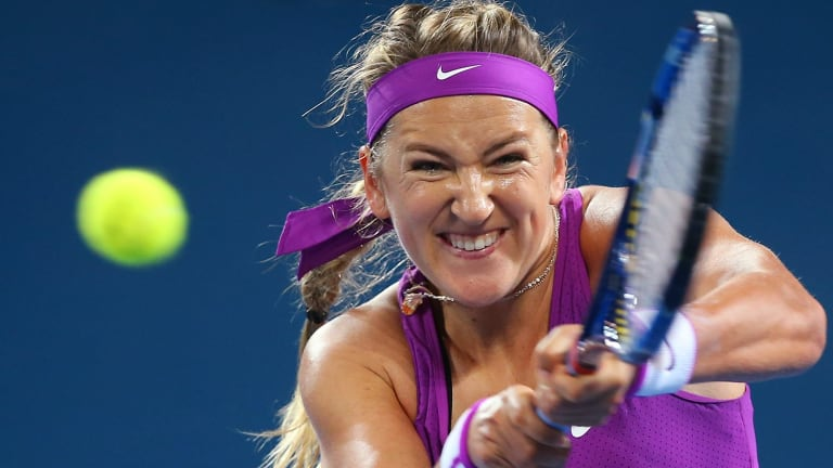 Victoria Azarenka learns to enjoy the sport again in Brisbane.
