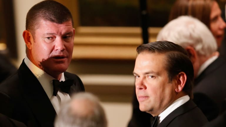James Packer (left) and Lachlan Murdoch's shareholder guarantor fees have been repaid but their shares are gone.