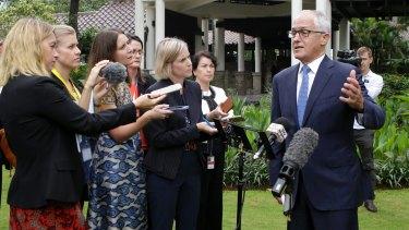 Malcolm Turnbull in Jakarta in March