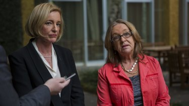 Serious allegations: ACT Minister for Education Joy Burch, right, and director-general of the ACT Education and Training Directorate, Diane Joseph.