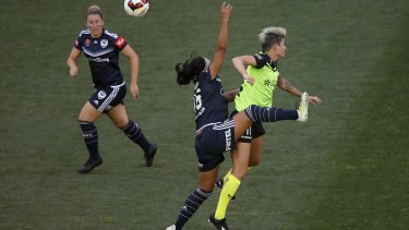 Canberra United striker Michelle Heyman has been cleared of major damage to her ankle.