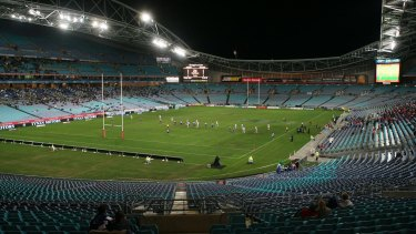 Familiar sight: a sparsely-populated ANZ Stadium.