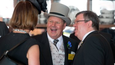 Lord Mayor Robert Doyle at the Emirates marquee during Victoria Derby Day at Flemington Racecourse last month.