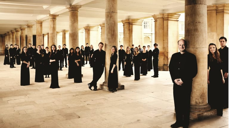 The Choir of Trinity College, Cambridge with conductor Stephen Layton, front, just got better and better.