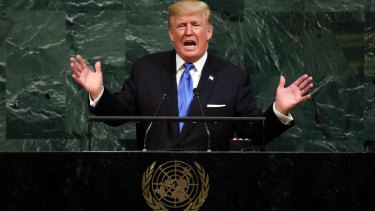 """President Donald Trump, speaking at the UN General Assembly last month, has accused the world body of """"chronic anti-Israel bias""""."""