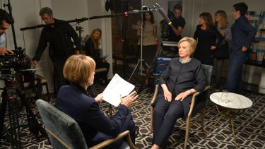 Sarah Ferguson interviews Hillary Clinton on Four Corners, October 2017.