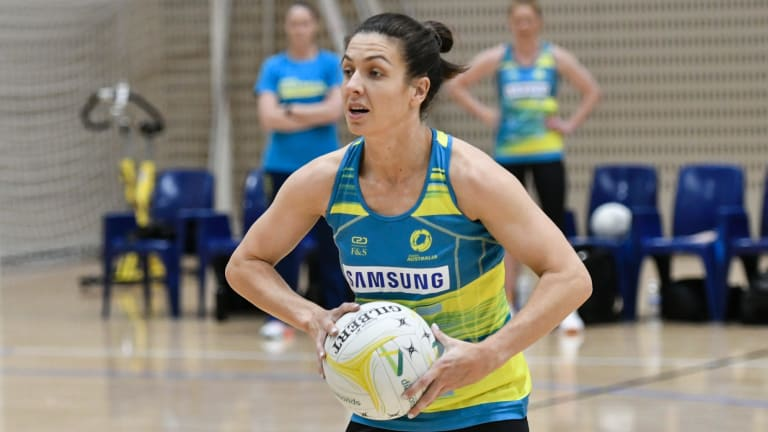 Ready to go: Australia's Ash Brazill can't wait for her return to Fast5 netball this weekend.
