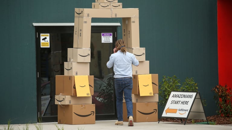 Mr Hall is expecting Amazon Australia's shipping times to be on par with the US store - next-day delivery is offered to most capital cities for $9.99.