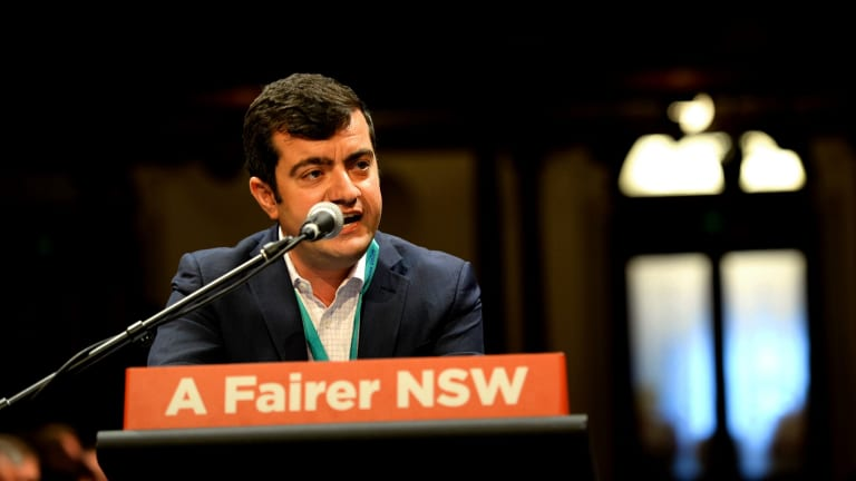 Labor senator Sam Dastyari during the NSW State Labor Conference on Saturday.