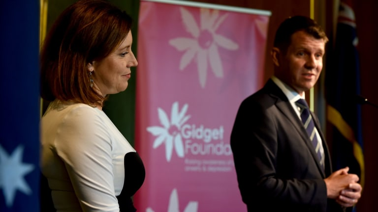 Premier Mike Baird and his wife Kerryn  at a Gidget Foundation lunch to raise awareness about perinatal anxiety and depression.