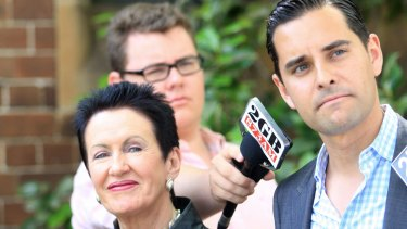 Independent incumbent Alex Greenwich with lord mayor Clover Moore.
