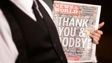 Stopped the presses: The last edition of News of The World in 2011.