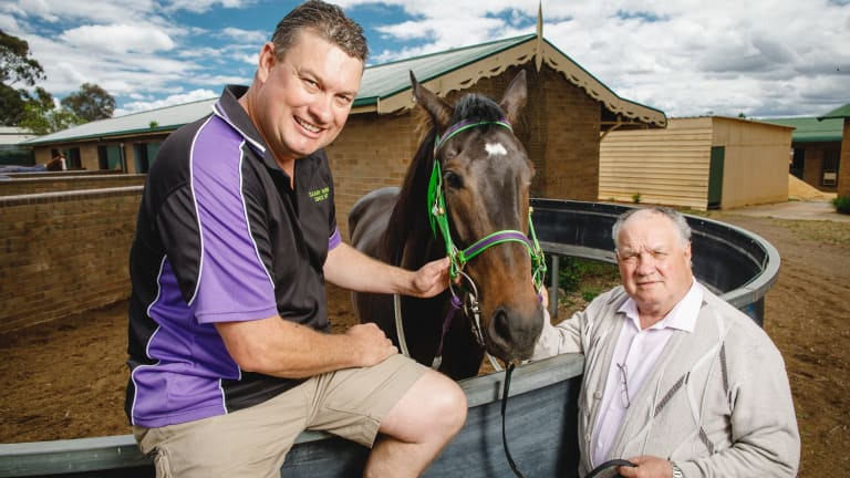 Horse trainers Joe and Frank Cleary.