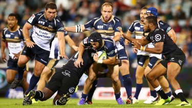 Isaac Thompson made his long-awaited Super Rugby debut on Saturday night.