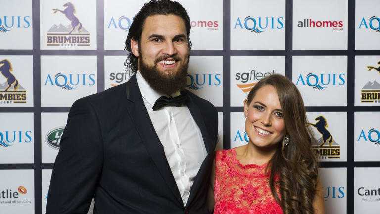 Jordan and Stacey Smiler at the Brumbies Ball.