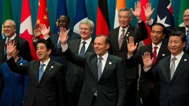 There's only one thing worse than people not enjoying themselves at your party. And that's inviting someone more charming than you: Tony Abbott farewells the G20 with a sigh of relief.