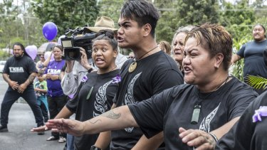 Maori community members performed a traditional haka as part of a guard of honour.