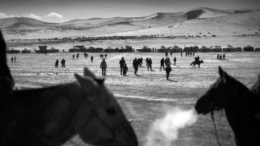 The Naadam festival of Mongolia is a much loved and celebrated festival. Children ride in a 28-kilometre horse race, risking injury and even death. Old and young Mongolians run to the winning horse to touch its sweat as Mongolians believe this brings them good luck.