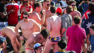 When Australian revellers stripped down to Malaysian flag-themed underpants at the Sepang Formula 1 grand prix on Sunday, officials took offence.