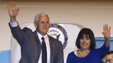 US Vice President Mike Pence (left) will meet with Australian PM Malcolm Turnbull on Saturday as part of his 10-day, four country trip to Asia.