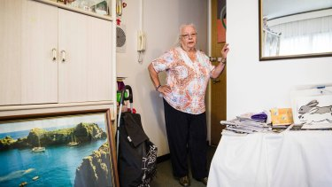 Anna Kovic has lived in her Waterloo housing commision flat since 1971.