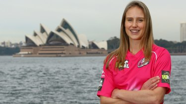 Big hit: Sydney Sixers' Ellyse Perry.