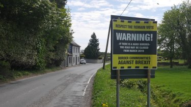 Damian McGenity's group, Border Communities Against Brexit, has posted notices on border roads to try to generate greater awareness of the problems to come.