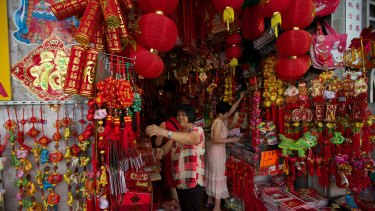 Chinese New Year celebrations commence around Sydney's China Town.