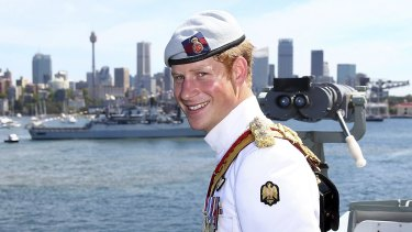 Prince Harry on board the HMAS Leeuwin in 2013.