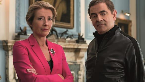 Emma Thompson and Rowan Atkinson in Johnny English Strikes Again.