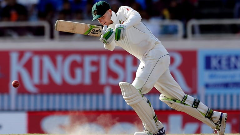 Peter Handscomb is looking forward to the challenge of England's pace attack.