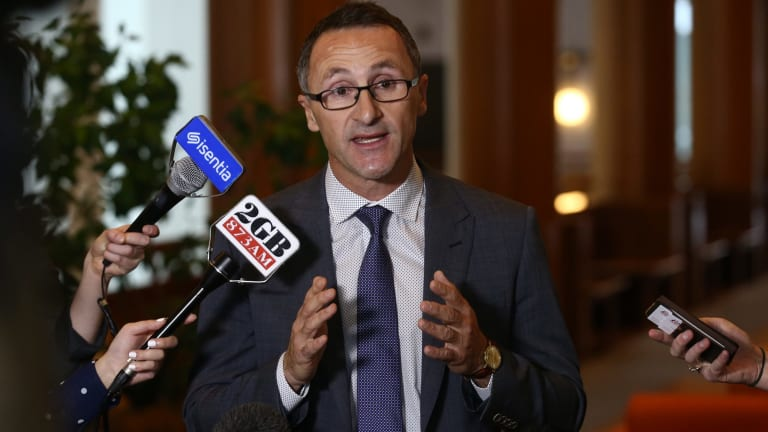Obstacles: Richard Di Natale spearheaded the push for legalising medical marijuana.