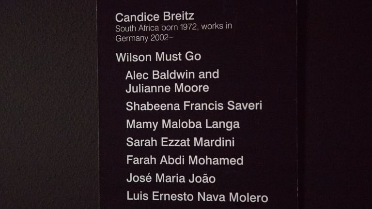 Candice Breitz changed the title of her artwork at NGV Triennial to Wilson Must Go.