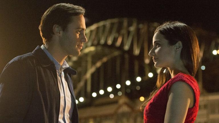 Richard Brancatisano and Andrea Demetriades in the cross-cultural romance <i>Alex and Eve</i>.