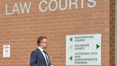 Glenn Archer at Heidelberg Magistrates Court on Friday.