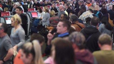 Huge queues took over Sydney Airport earlier this week.