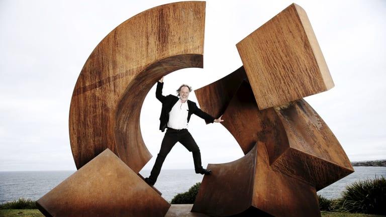 Jorg Plickat, artist , Divided Planet winner of 2015 Sculpture by the Sea, Sydney