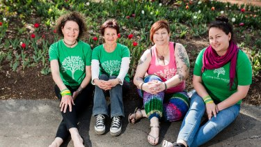 Living Green Festival organisers and volunteers, from left, Tars Ward, Francine Horne, Tracey Lofthouse and Jess Ferry.